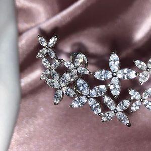 New shine crystal designer glam ear cuff
